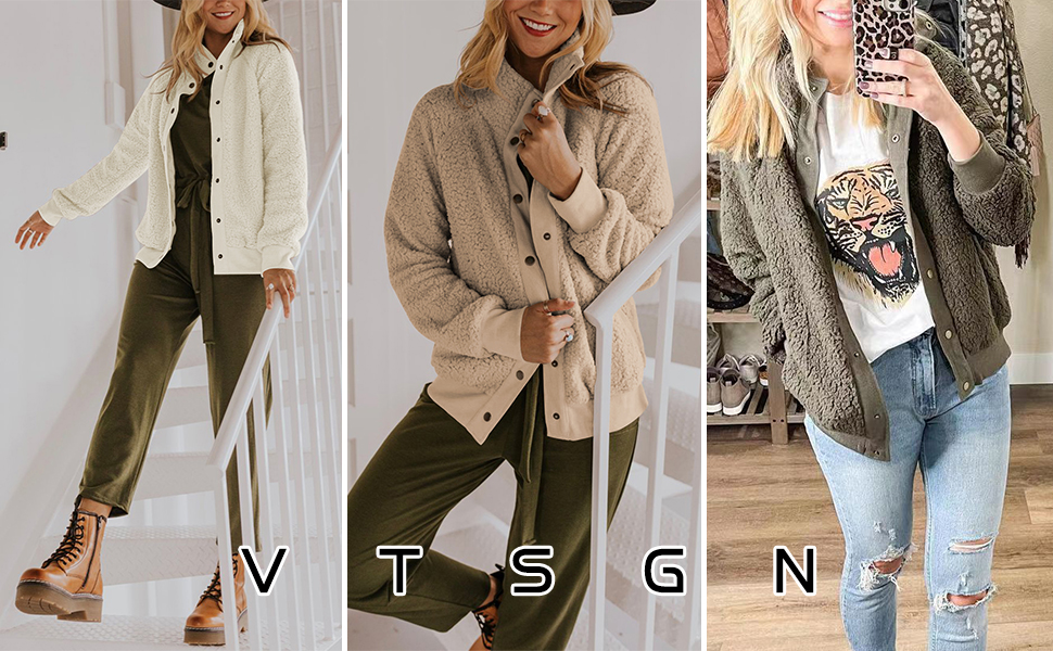 Fleece Winter Jacket Coat for Women