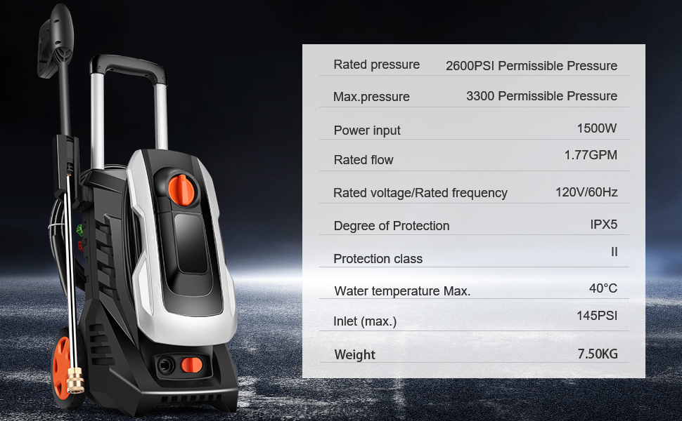 3300PSI Permissible Pressure Power Washer