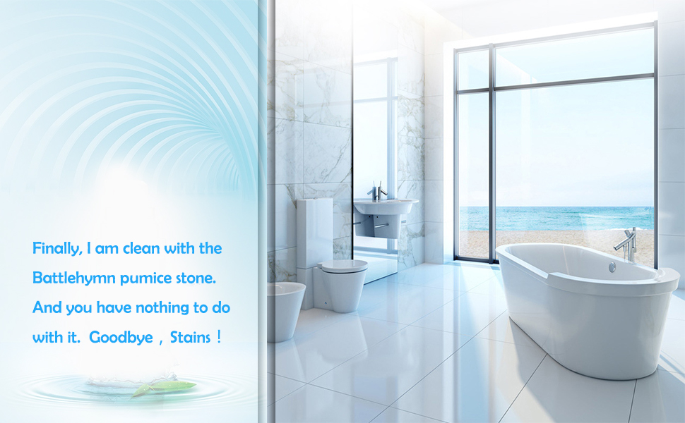 Pumice Stone Toilet Cleaning Cleans Limescale Hard Water Rings Tiles Iron Rust Household Cleaning
