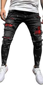 Pattern Stretch Jeans