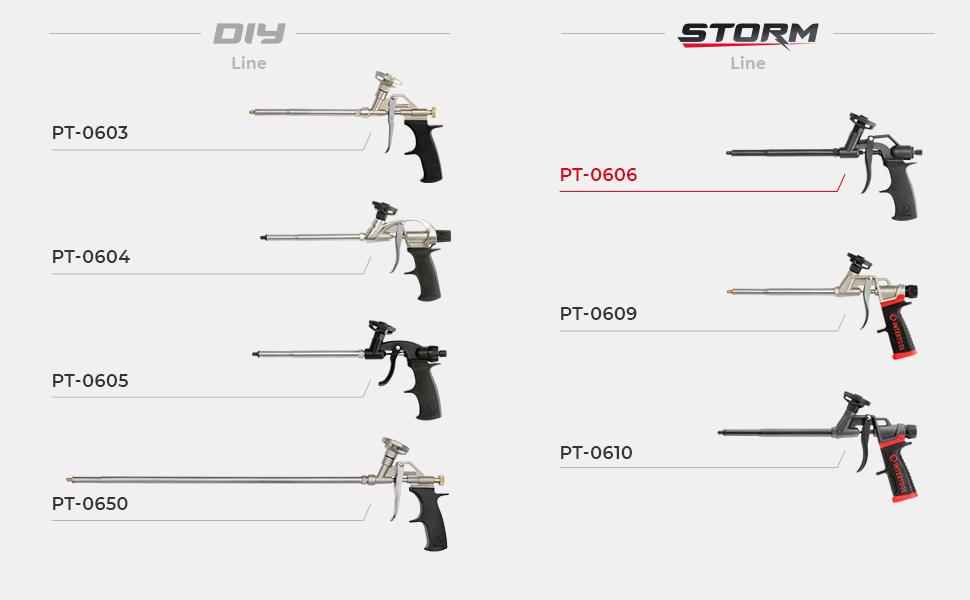 Foam Gun Family Line PT-0606