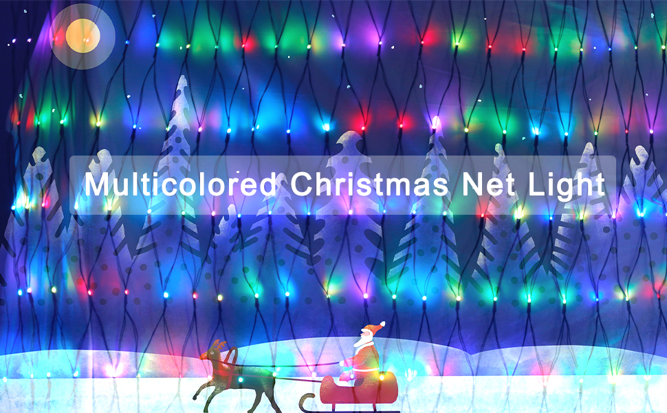 RGB Christmas net light