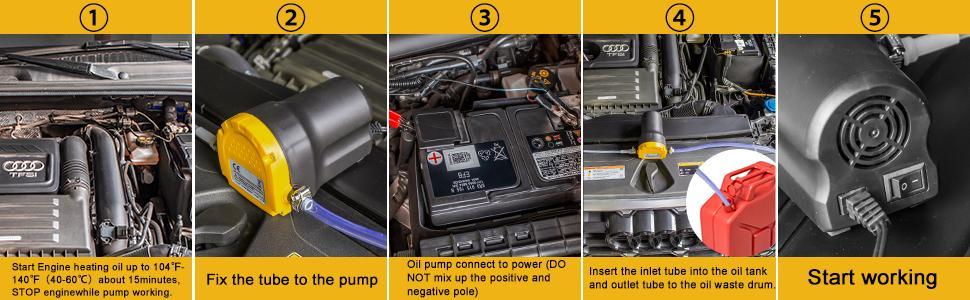cómo utilizar la bomba de cambio de aceite-60W