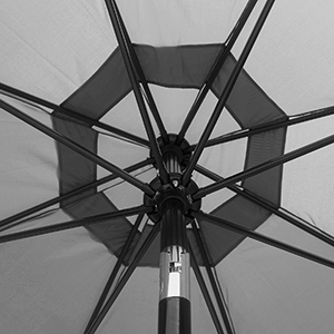 the detail of umbrella canopy