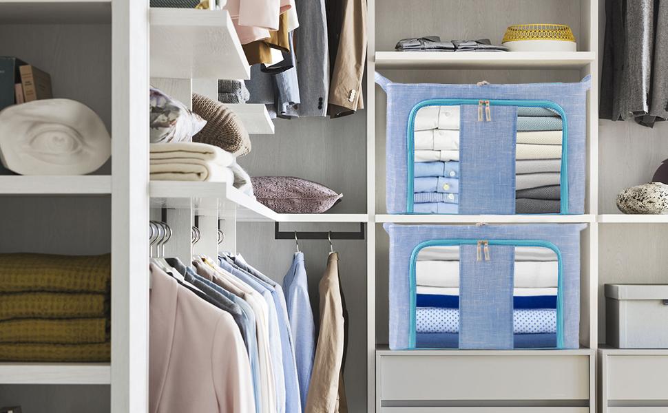 Folding organiser in the wardrobe