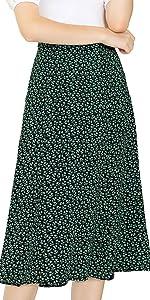 B08B149HYT A-Line Midi Skirt
