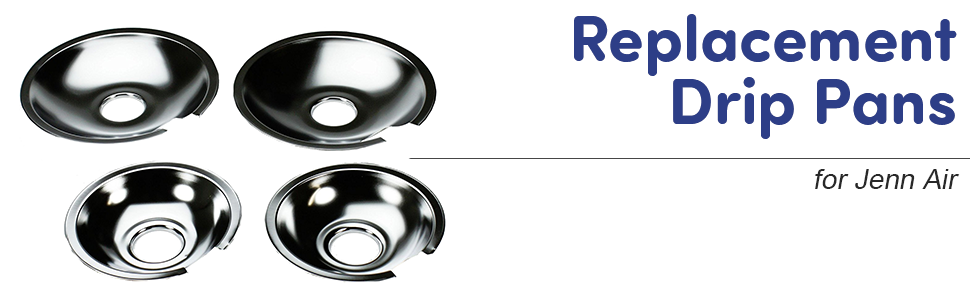 chrome drip pans replacement refrigerator whirlpool pan cooktops kenmore sears stove compatible