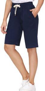 womens elastic waist bermuda shorts womenamp;#39;s relax fit shorts  womens dress bermuda shorts