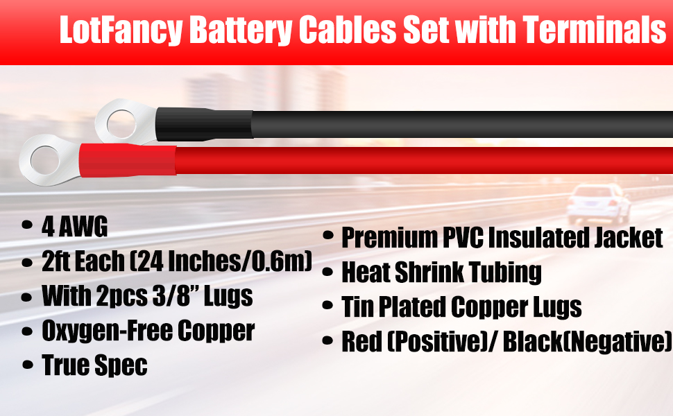 4AWG battery cable