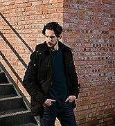WenVen Men's Classic Cotton Hoodie Jacket Fleece Lining Warm Coat Winter Outdoor Parka Jacket Mid...