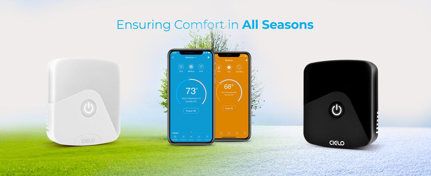 Ensuring comfort in all seasons with heat, cool, auto, dry, turbo and FP modes