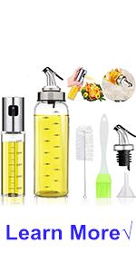 Oil Sprayer and Bottle Set