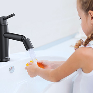 bathroom faucet with an aerator