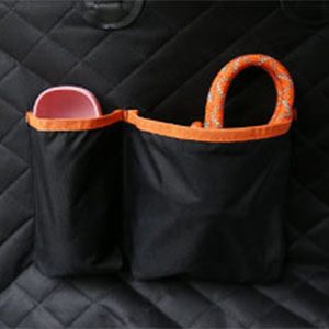 dog car seat cover with storage pocket