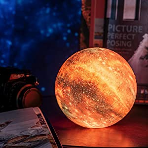 3d moon space lamp