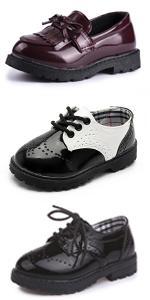 Infant Moccasins Newborn Oxford Loafers Anti-Slip Toddler Wedding Uniform Dress Shoes