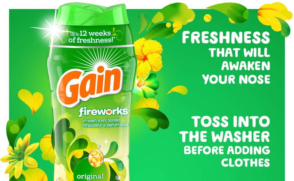 Freshness that will awaken your nose Toss into the washer before adding clothes