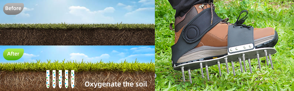 metal sole grass aerator shoes