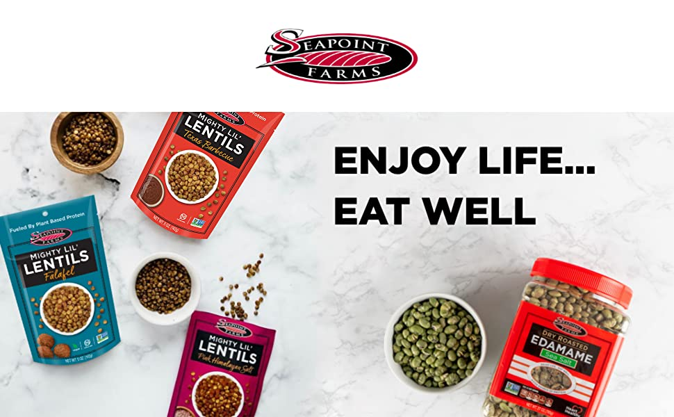 seapoint farms healthy snacks edamame lentils dry roasted