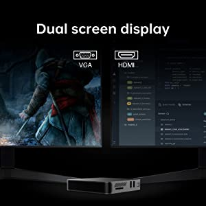 Dual screen display