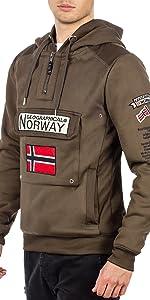 Outdoor men's jumper with Norway flag