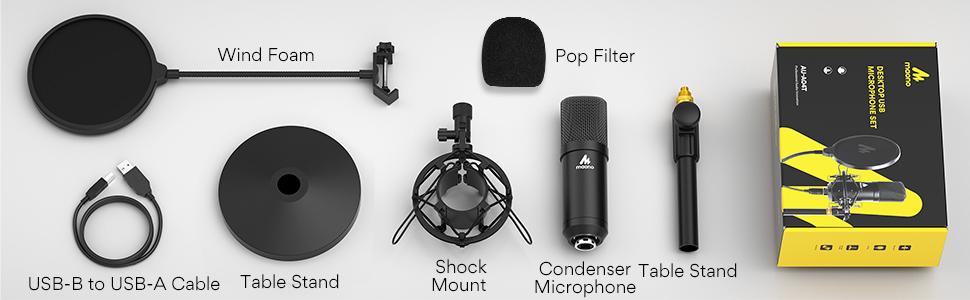 AU A04T USB microphone kit