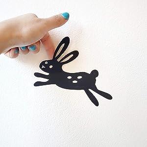 Bunny black vinyl decal installation