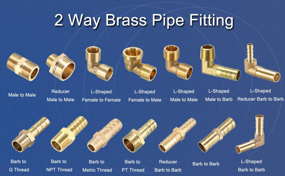 2 way brass pipe fitting