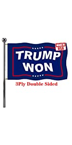 Trump Won flag 3x5