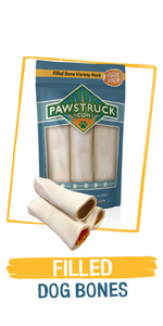 Filled Dog Bones - Stuffed w/ Peanut Butter amp; Cheese - Like Redbarn, Made in USA w/ Natural Beef