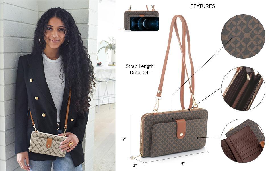 Emperia Wallet on strap long wallet women