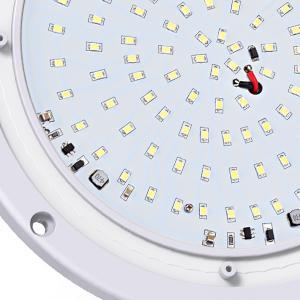 "Leisure LED RV Trailer Camper Exterior 8.5"" White Round Scare Porch Light 1000 Lumen Extra Bright"
