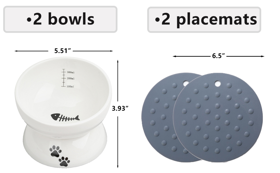 2 BOWLS AND 2 PLACEMATS