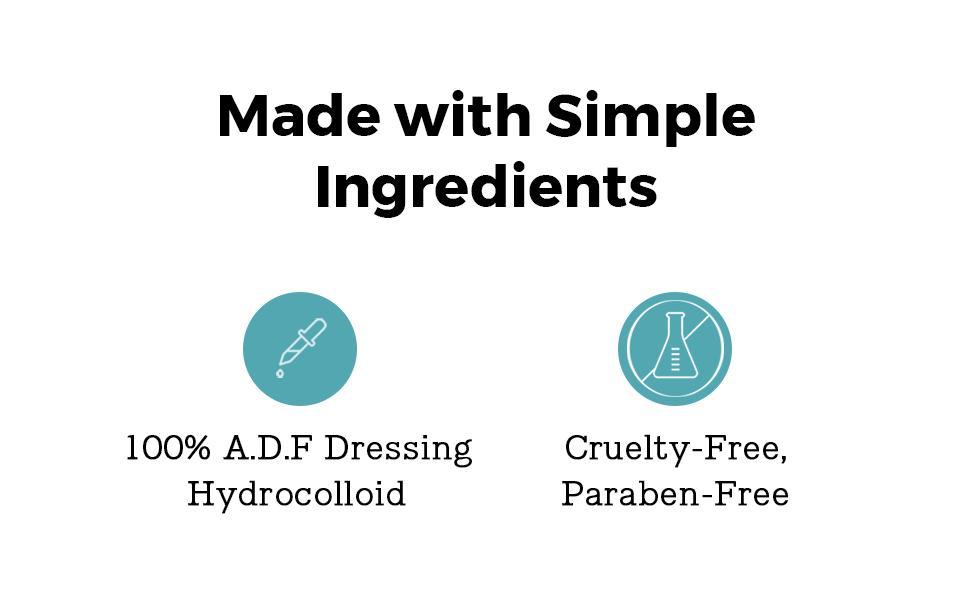 Ingredients | Hydrocolloid, Cruelty-Free, Paraben-Free