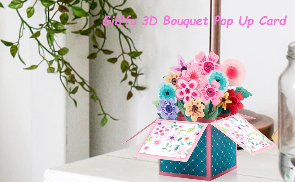 3D Flower Bouquet Pop Up Card