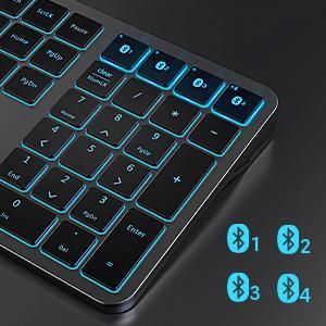 multi-device bluetooth keyboard