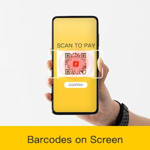 Read barcodes on screen