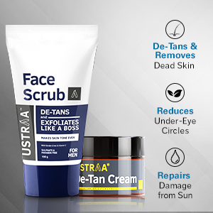 De-tans & removes Dead Skin, Reduces Under-eye Circles, Repairs Damage from sun