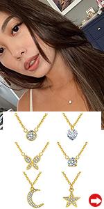 Round Heart Pendant Necklaces