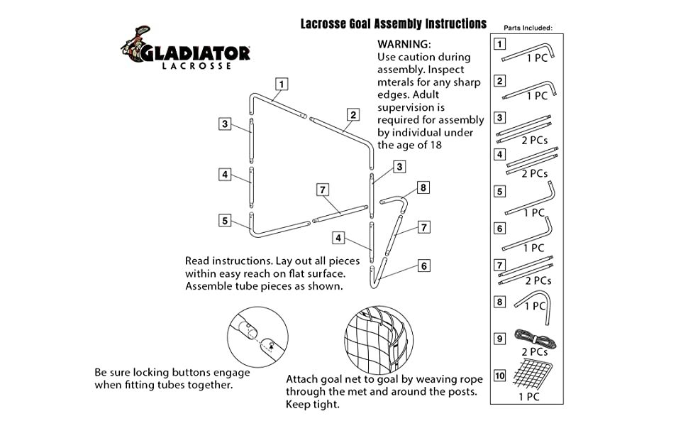 lacrosse goal assembly instructions