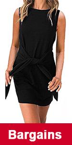 sleeveless summer short dress