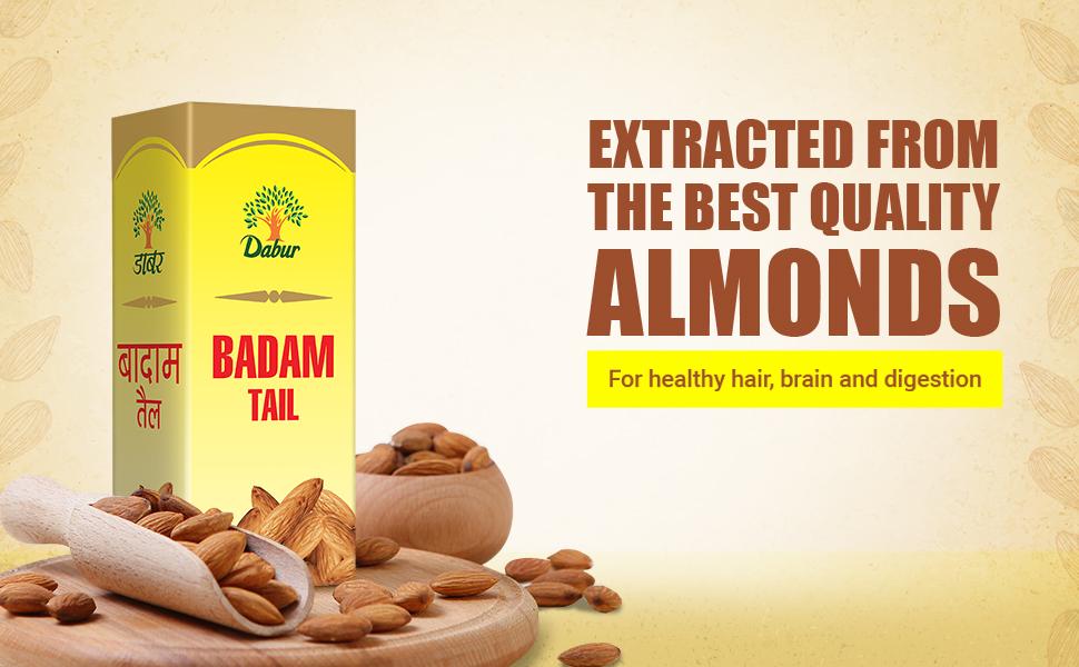 Hair oil ; Hair oils; badam roghan ; badam tail; almond oil ; pure almond oil ; glowing skin