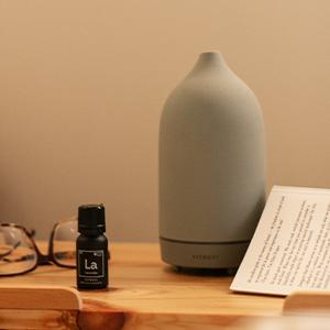 Add 10-15 drops of Lavender to a diffuser.