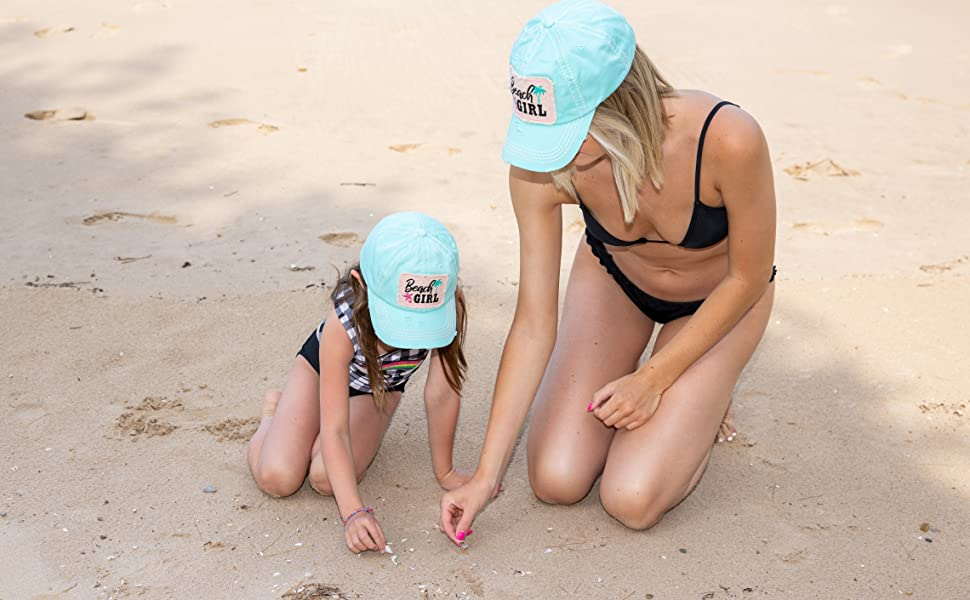 Matching beach Girl Hats for Mother and Daughter