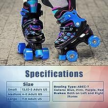 Quad Skates Features