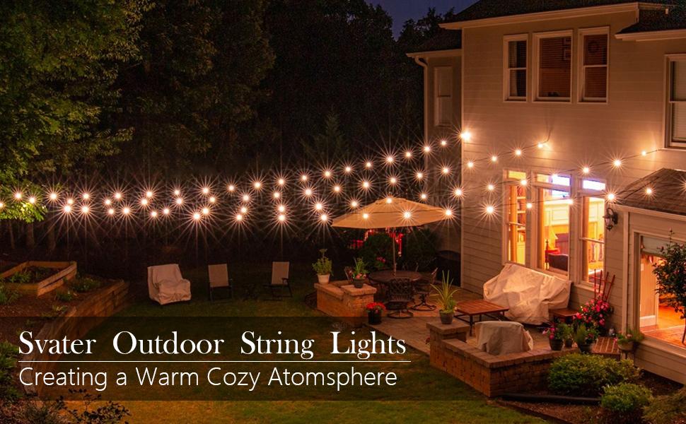 Outdoor Bistro Lights 96ft