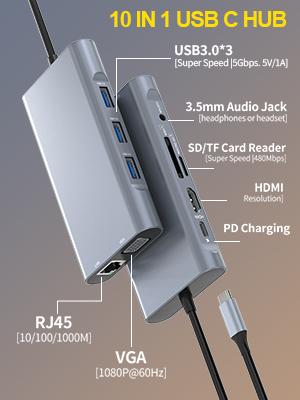 10 in 1 Hub USB C