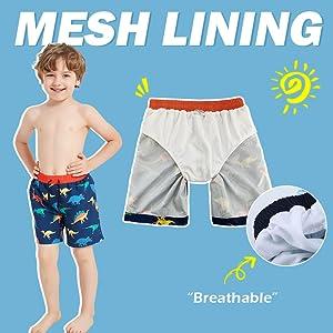kids swim pants with mesh lining