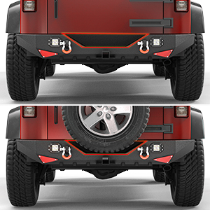 jk rear bumper with spare tire