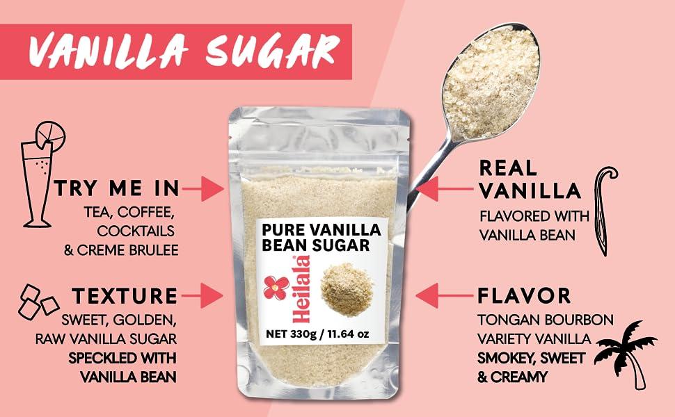 Pure Vanilla Bean Sugar Tongan Bourbon Variety Vanilla Beans